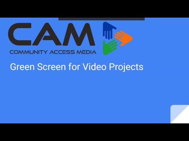 Green Screen for Video Projects Webinar