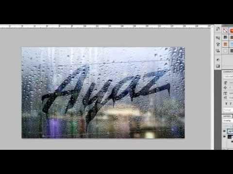 Photoshop Cs5 Buğulu Yazı Yazma. ( Text Rain )