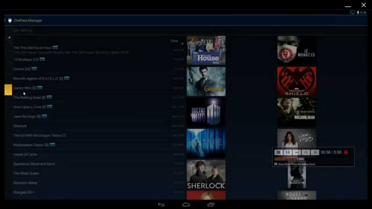 TiVo Android App using AMI DuOS
