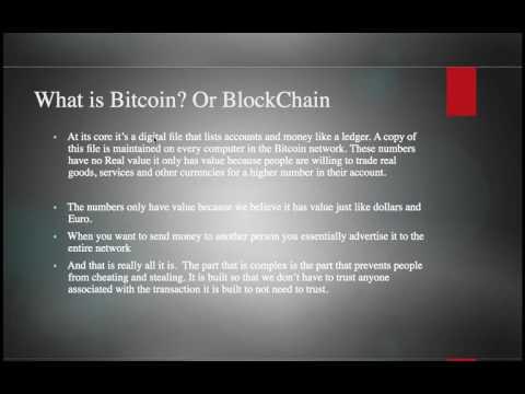 Bitcoin/BlockChain 101 tutorial