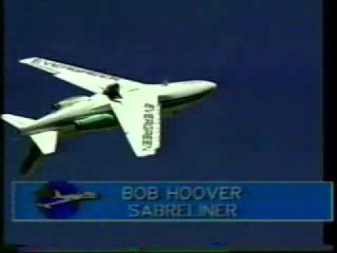 Bob Hoover at Reno 1988 Shrike Commander Sabre Liner