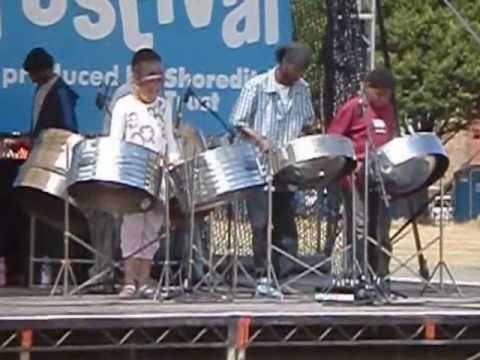 Jamie Noel and the Pantonic steel pan players