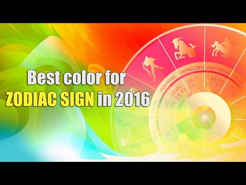 Spiritual - Lucky color for zodiac sign in 2016 | rashifal 2016 | color trends 2016