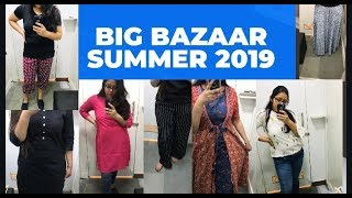 BIG BAZAAR | SUMMER COLLECTION 2019 | KURTIS TOPS PALAZZO| AFFORDABLE