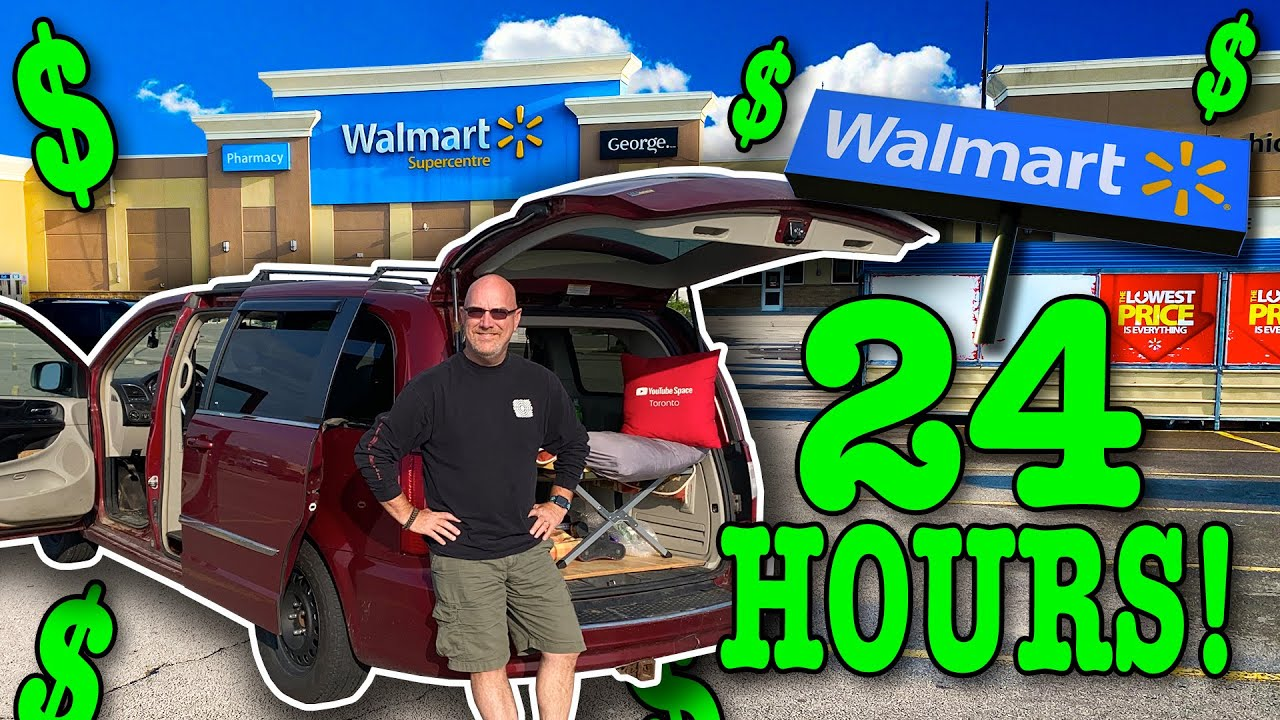 Living at Walmart for 24 Hours 🚐 Stealth Camping #vanlife