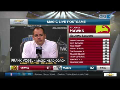 Frank Vogel -- Orlando Magic vs. Atlanta Hawks 01/04/2017