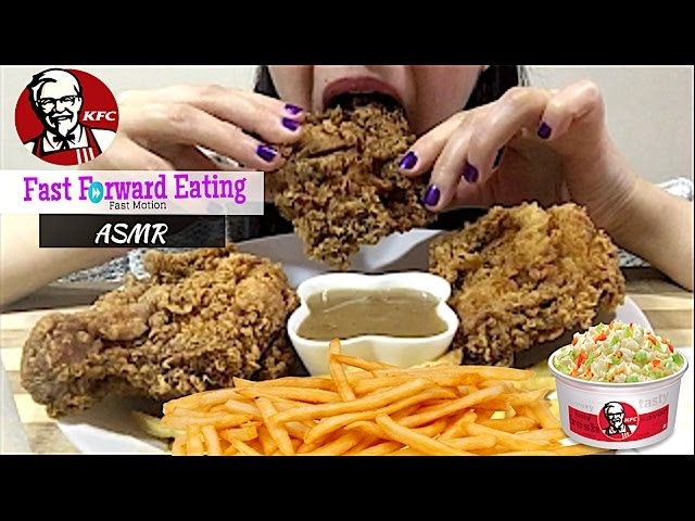 Asmr The Best Kfc Honey Cake Eating Show Mukbang Crunchy Eating Sounds Fast Forward Eating