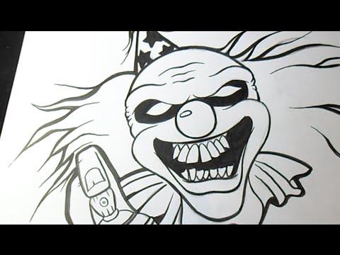 Como Desenhar Palhaco Grafite Youtube