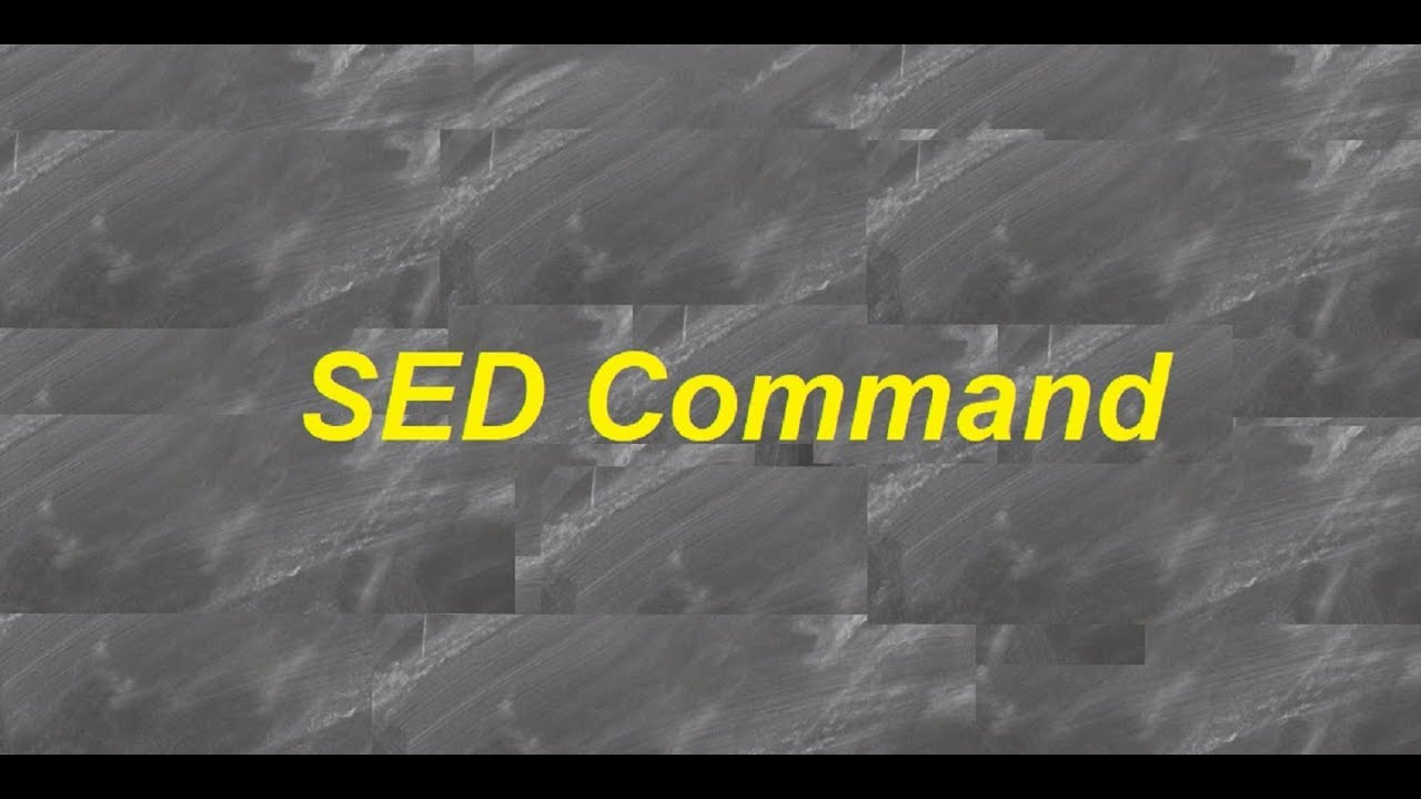 How To Use The Sed Command In Linux With Examples