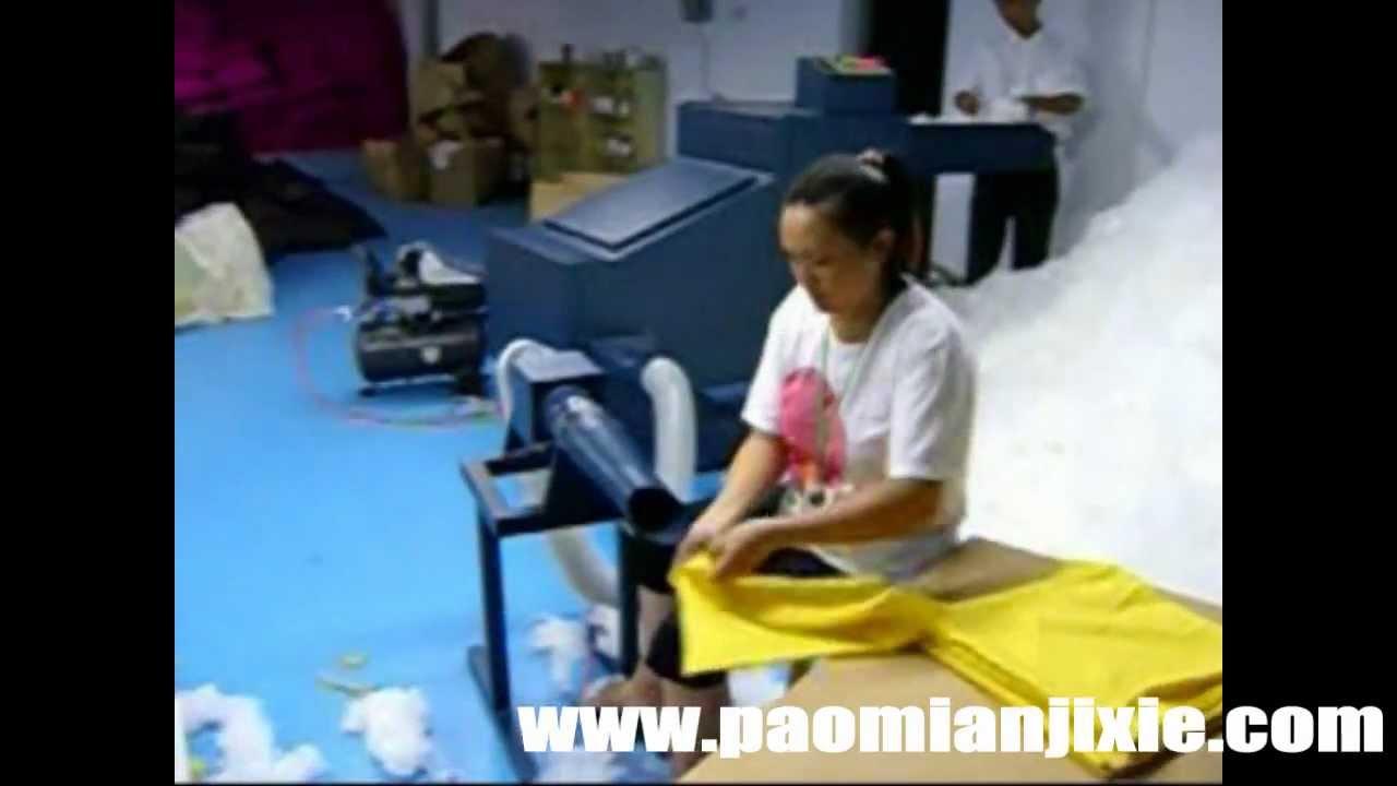 Bean Bag Foam Filler Blower Vacuum Carding Filling Youtube