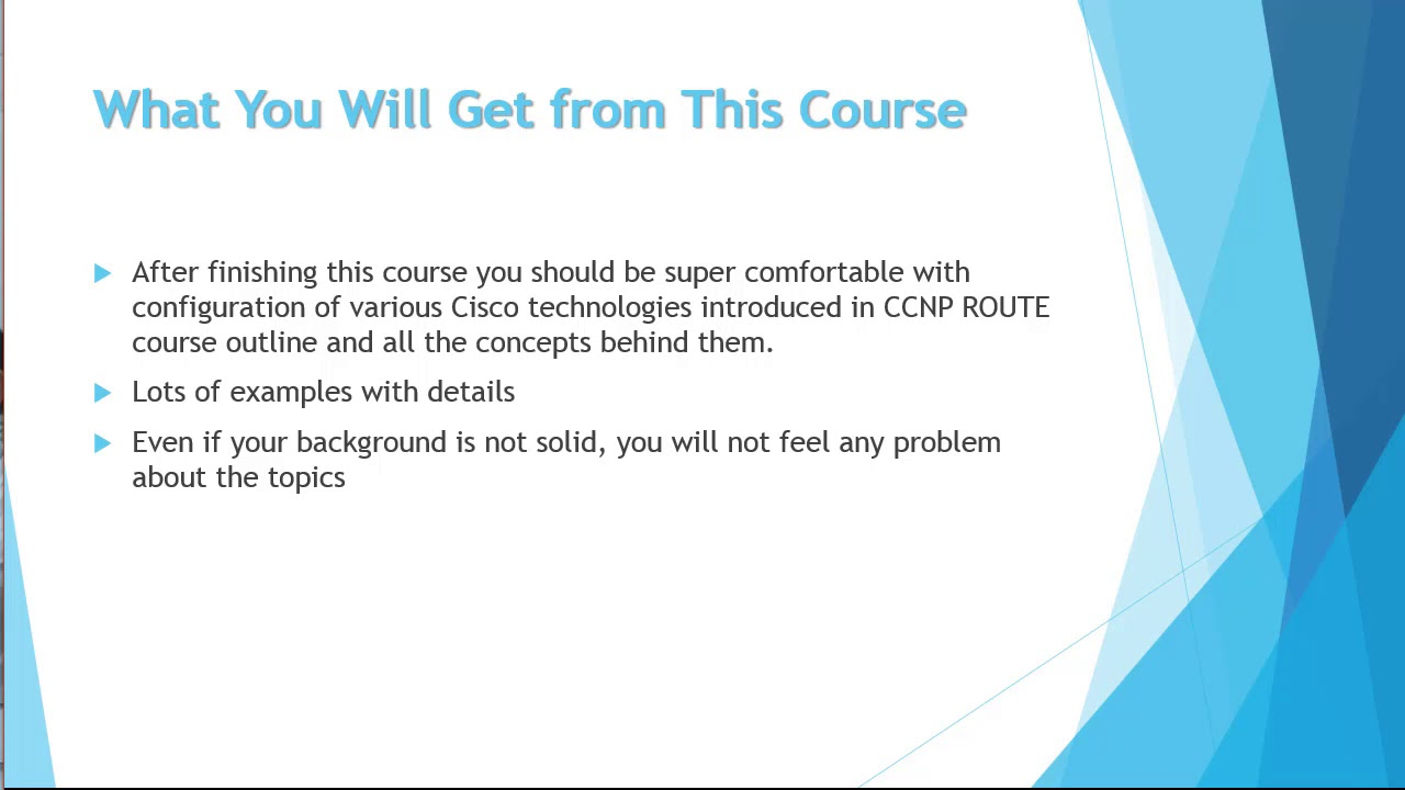 CCNP ROUTE 300-101 Course on UDEMY - Discounted!