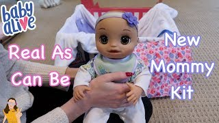 Baby Alive Real As Can Be Baby + New Mommy Kit | Kelli Maple
