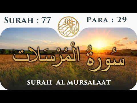 77 Surah Al Mursalat    Para 29   Visual Quran with Urdu Translation