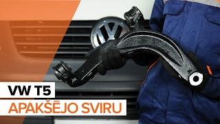 aizmugurē un priekšā Svira uzstādīšana VW TRANSPORTER V Platform/Chassis (7JD, 7JE, 7JL, 7JY, 7JZ, 7FD): bezmaksas video