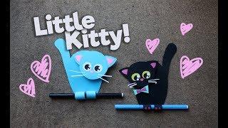 Как сделать поделку Котик своими руками | How to make a cute cat Craft DIY Kawaii | My Paper Quest