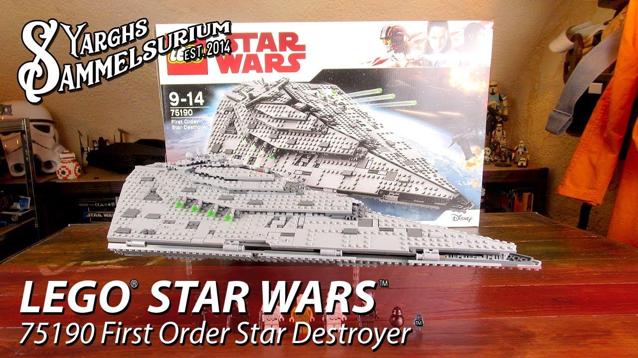 Review lego star wars tlj 75190 first order star destroyer unboxing speedbuild deutsch youtube - Croiseur interstellaire star wars lego ...