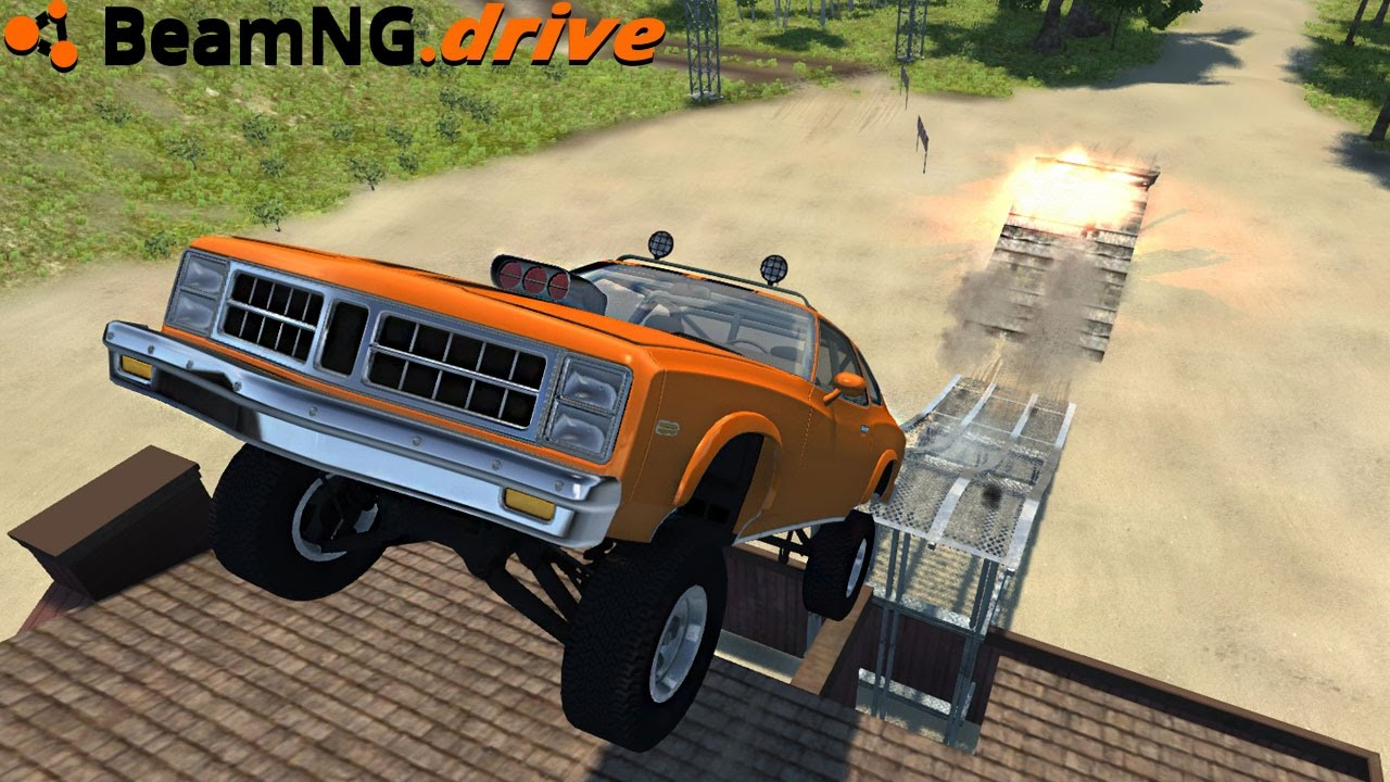 Beamng Drive Offroad Muscle Car Youtube