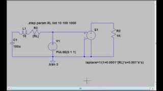 LTSPICEで 自動制御学習 二次遅れ伝達関数 ラプラス関数