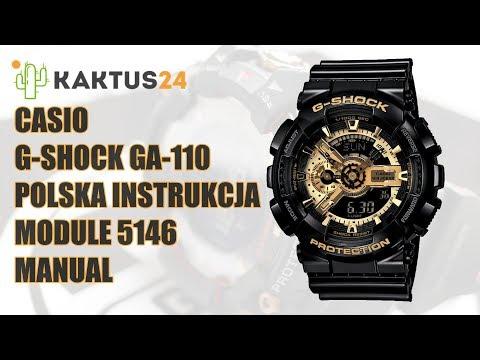 633cec38a6852 Jak ustawić Casio G-Shock GA-110 instrukcja obsługi PL ustawienia zegarka -  YouTube