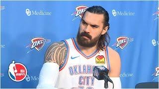 <b>Steven Adams</b> full press conference | Oklahoma City Thunder | 2019 ...