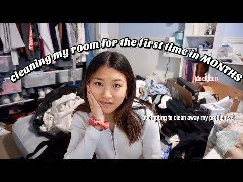 cleaning my room for the first time in MONTHS | Vanessa Nagoya
