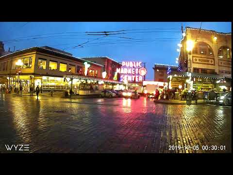 Wyze Cam Outdoor - Pike Place Timelapse