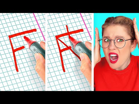 HOLY GRAIL SCHOOL HACKS THAT WILL SAVE YOUR DAY!    Funny School Tips by 123 Go! Genius
