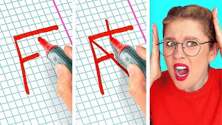 HOLY GRAIL SCHOOL HACKS THAT WILL SAVE YOUR DAY! || Funny School Tips by 123 Go! Genius