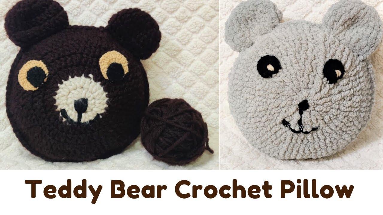 Crochet Teddy Bear Pillow [FREE Crochet Pattern] | Crochet teddy ... | 720x1280