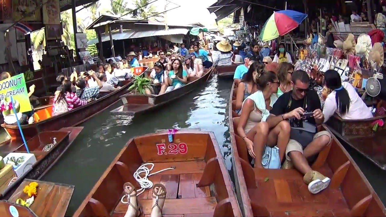 Damnoen Saduak - Floating Market Thailand 2016 - YouTube
