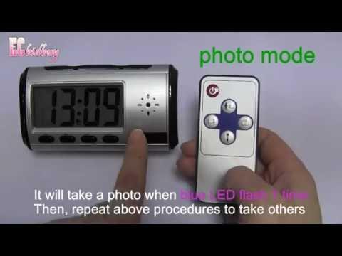 00575-SYROP555CLOKnS Spy Multi-function DVR  Hidden Camera Clock