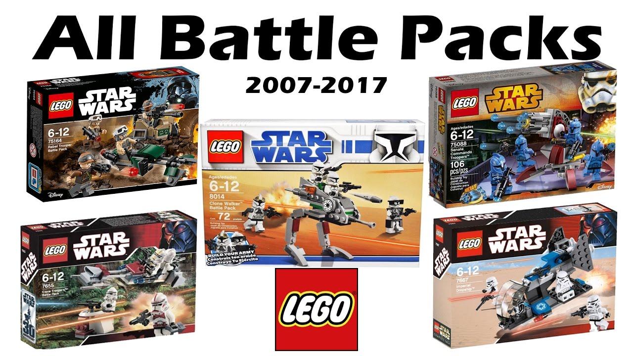 all lego star wars battle packs ever 2007 2017 hd youtube. Black Bedroom Furniture Sets. Home Design Ideas