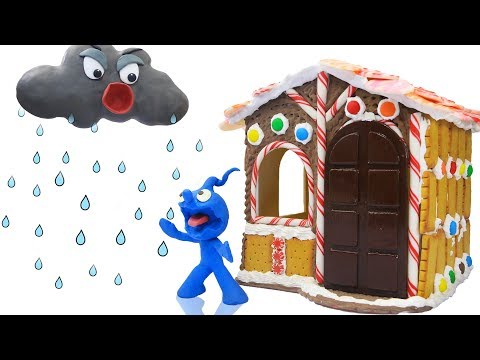 CLAY MIXER BUILD CANDY PLAYHOUSE 💖 Stop Motion Cartoons Animation
