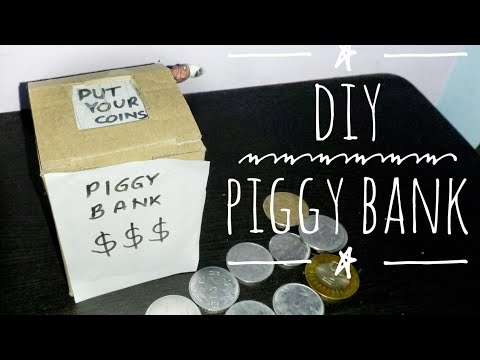 How to make a Piggy Bank Safe with Cardboard | DIY | Tools Tech