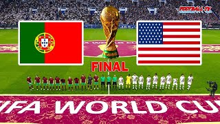 PORTUGAL vs USA Final FIFA World Cup 2022 Full Match All Goals PES 2021 eFootball