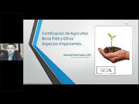 Incentivos Contributivos al Sector Agrícola