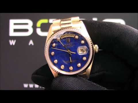 Rolex Presidential 18038 Blue Lapis Pyramid Diamond Dial For Sale