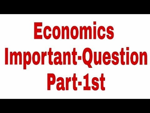 Economics Important Question Part-1st