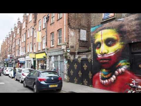 Vlog #4 East London Street Art Brick Lane Nomadic Community Garden - 13-05-2017