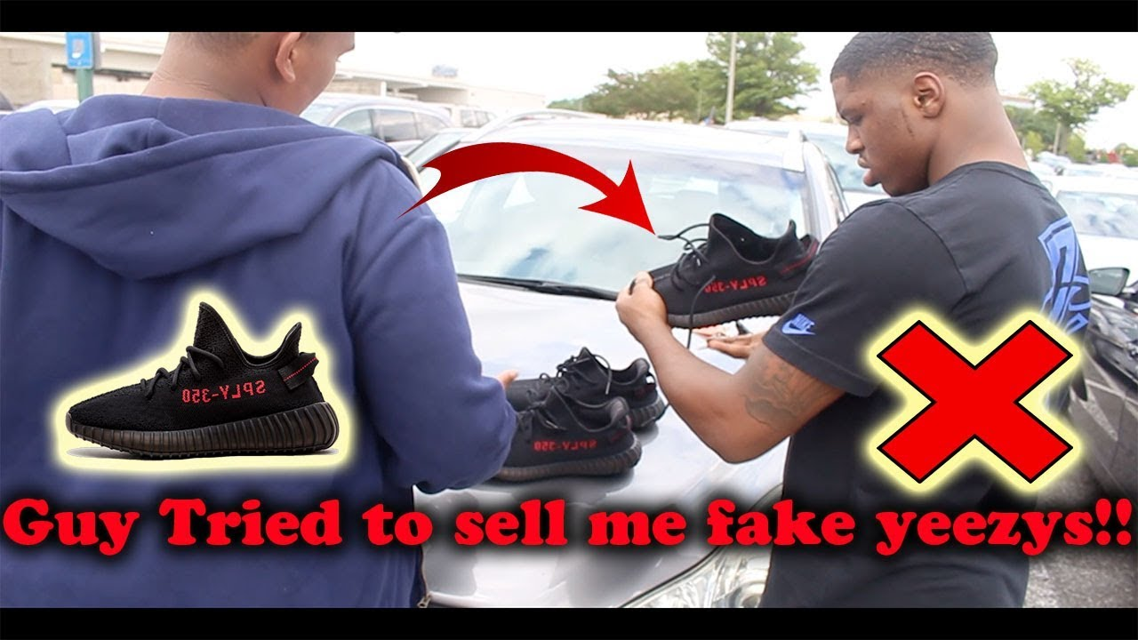 2b9fff22b Guy tried to sell me fake yeezys !! - YouTube