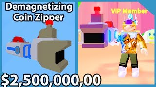 Spending 2,500,000,000 Dollars On Overpowered Vacuum In Vacuum Simulator (Roblox)