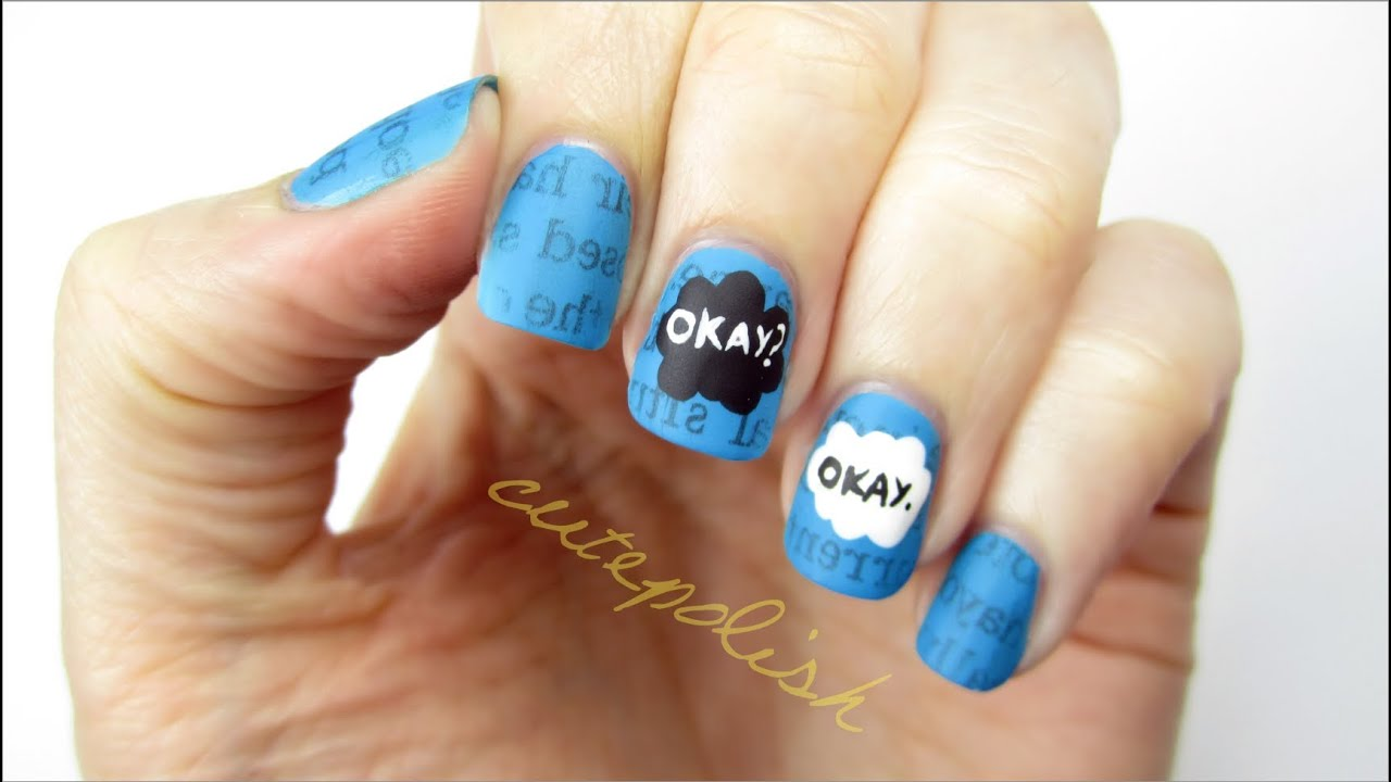 The Fault In Our Stars Nail Art - YouTube