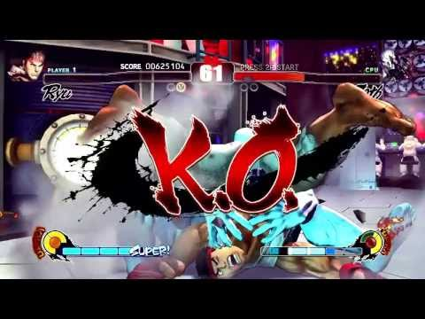 Street Fighter IV (PlayStation 3) Arcade Mode As Ryu