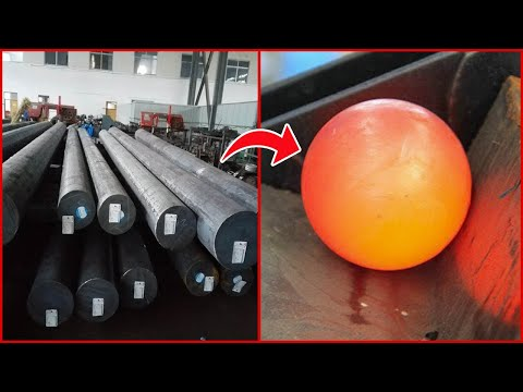 Amazing Large Steel Ball Forging Process And Most Satisfying Production Processes On Another Level