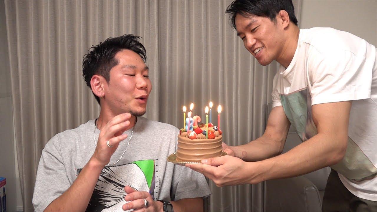 笠間の誕生日をお祝いする動画