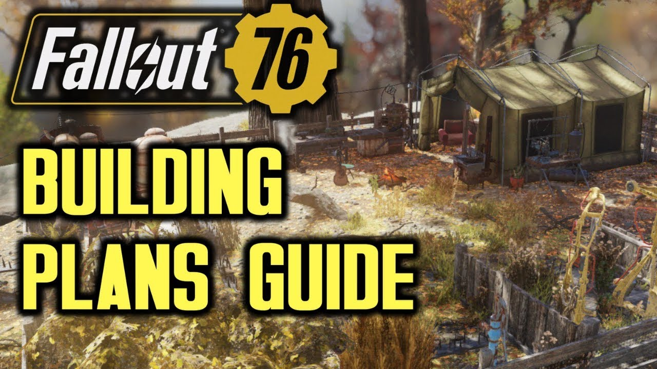 Fallout 76 C A M P Building Plans Location Guide Youtube
