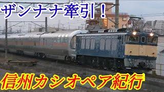 【信州カシオペア紀行】 ザンナナ牽引!EF64-37+E26系 12B