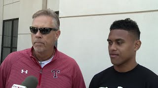 Simone Eli interviews Taulia Tagovailoa after he commits to Alabama Crimson Tide