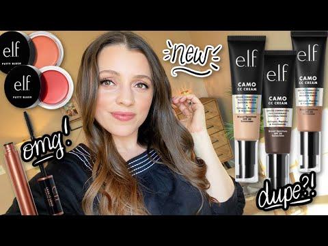NEW ELF MAKEUP 2021 // Trying the Camo CC Cream, Putty Cream Blush, Lash it Loud Mascara & more!