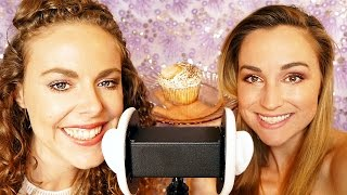 Double ASMR Wet Mouth Sounds & Eating Cupcakes! Binaural Ear to Ear Whisper, 3Dio Lip Smacking #asmr